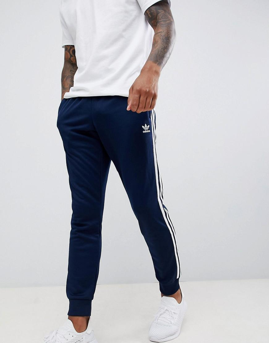 buy online 3d6b7 26c04 Lyst - adidas Originals 3-stripe Skinny joggers With Cuffed Hem In Navy  Dh5834 in Blue for Men