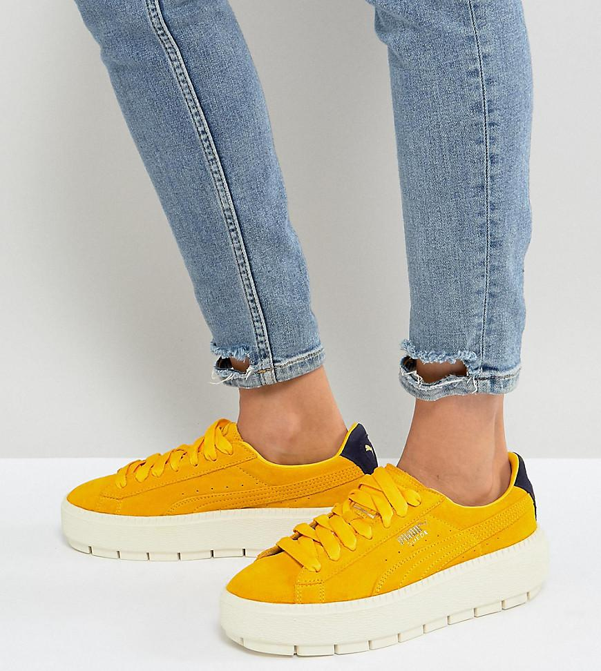 daced4820d786d Lyst - PUMA Platform Trace Trainers In Yellow in Yellow