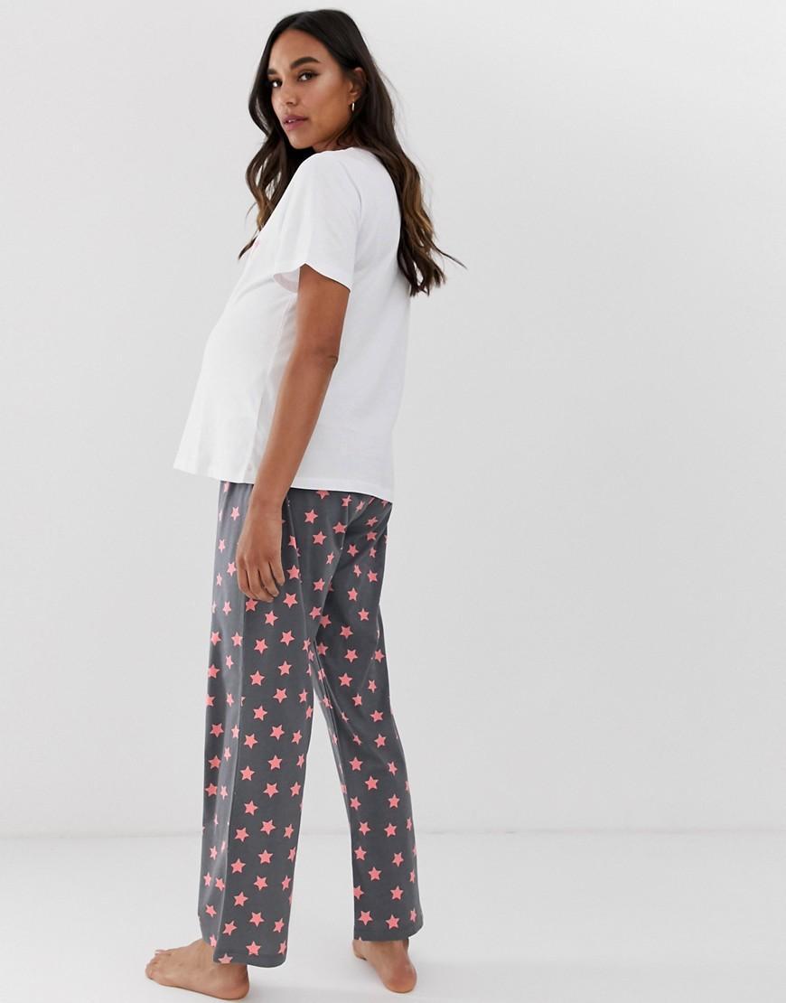 f9dffbe7c6881 ASOS Asos Design Maternity Hey Baby Pyjama Trouser Set - Lyst