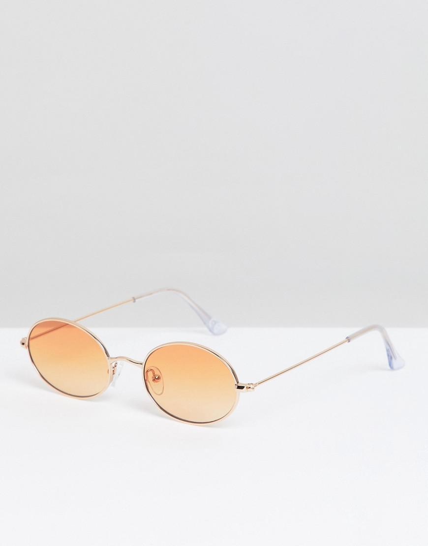 0ca6c7334f3 Lyst - ASOS Oval Glasses In Gold With Orange Lens in Metallic for Men