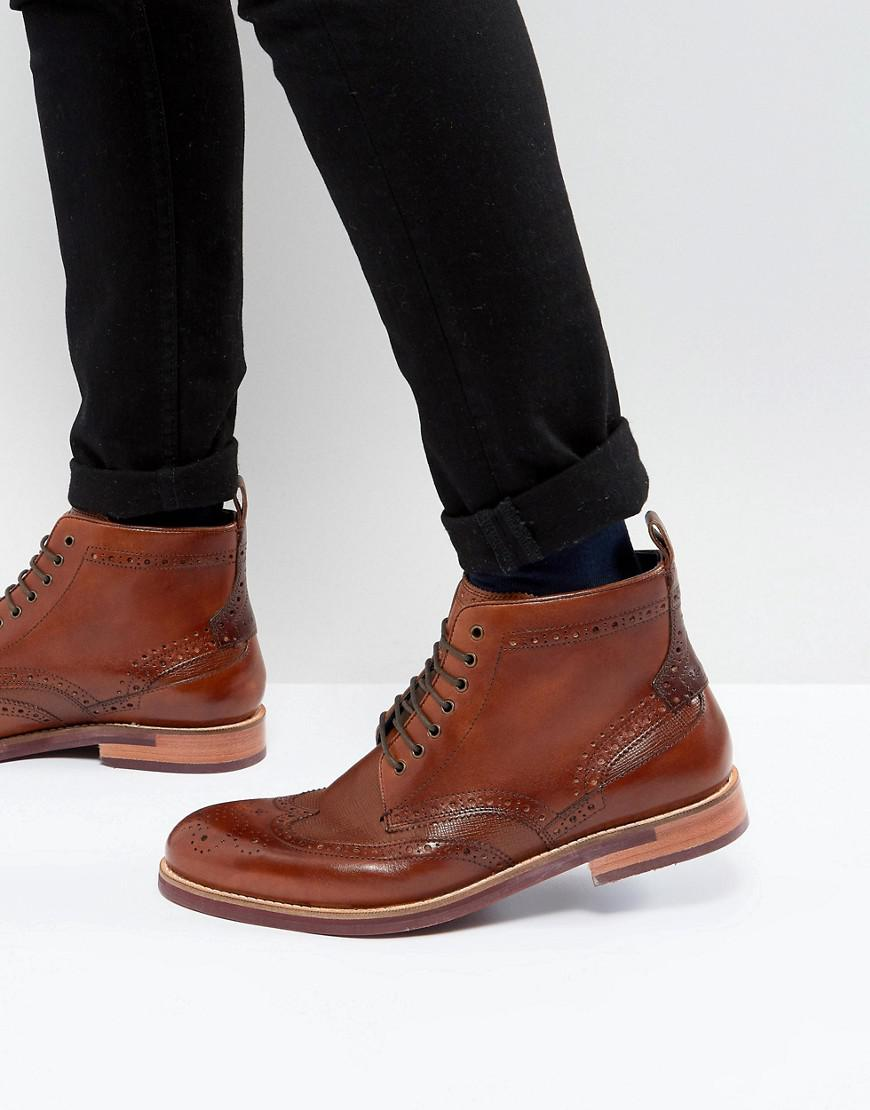 785210fe7958 Lyst - Ted Baker Hjenno Leather Lace Up Boots in Brown for Men