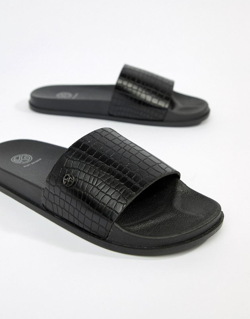 a928d603d076de KG by Kurt Geiger. Men s Black Kg By Kurt Geiger Slider Flip Flops ...