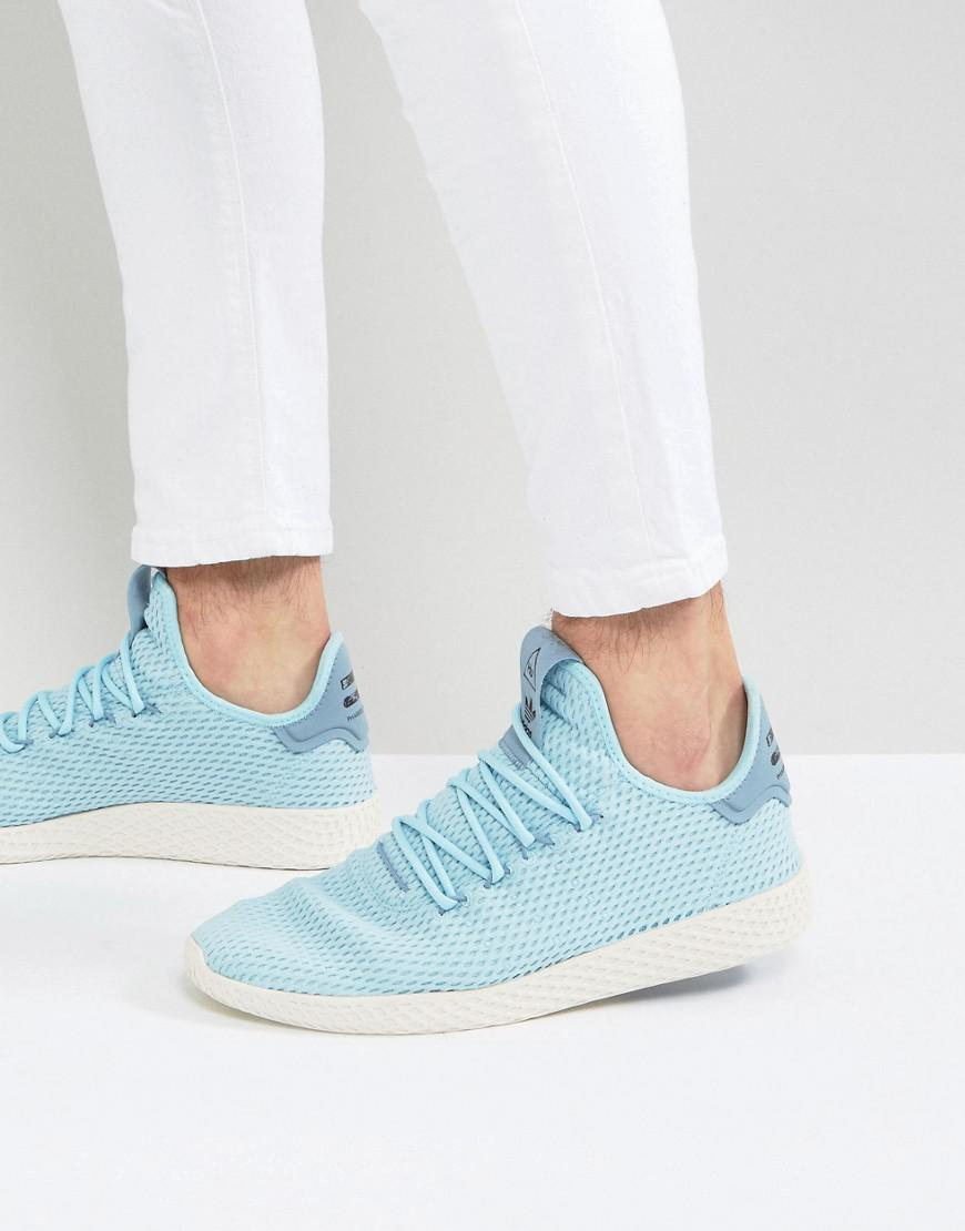 64599377d Womens X Pharrell Williams Tennis Hu Trainers In Blue Cp9764 adidas ...