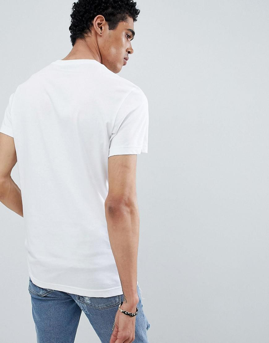 618eeb2e Versace Jeans T-shirt In White With Repeat Logo in White for Men - Lyst