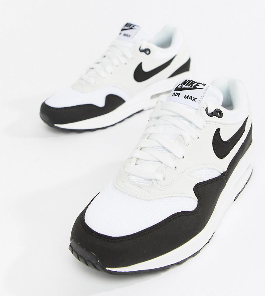 efabd22a50e Nike Air Max 1 Trainers In White And Black in White - Lyst