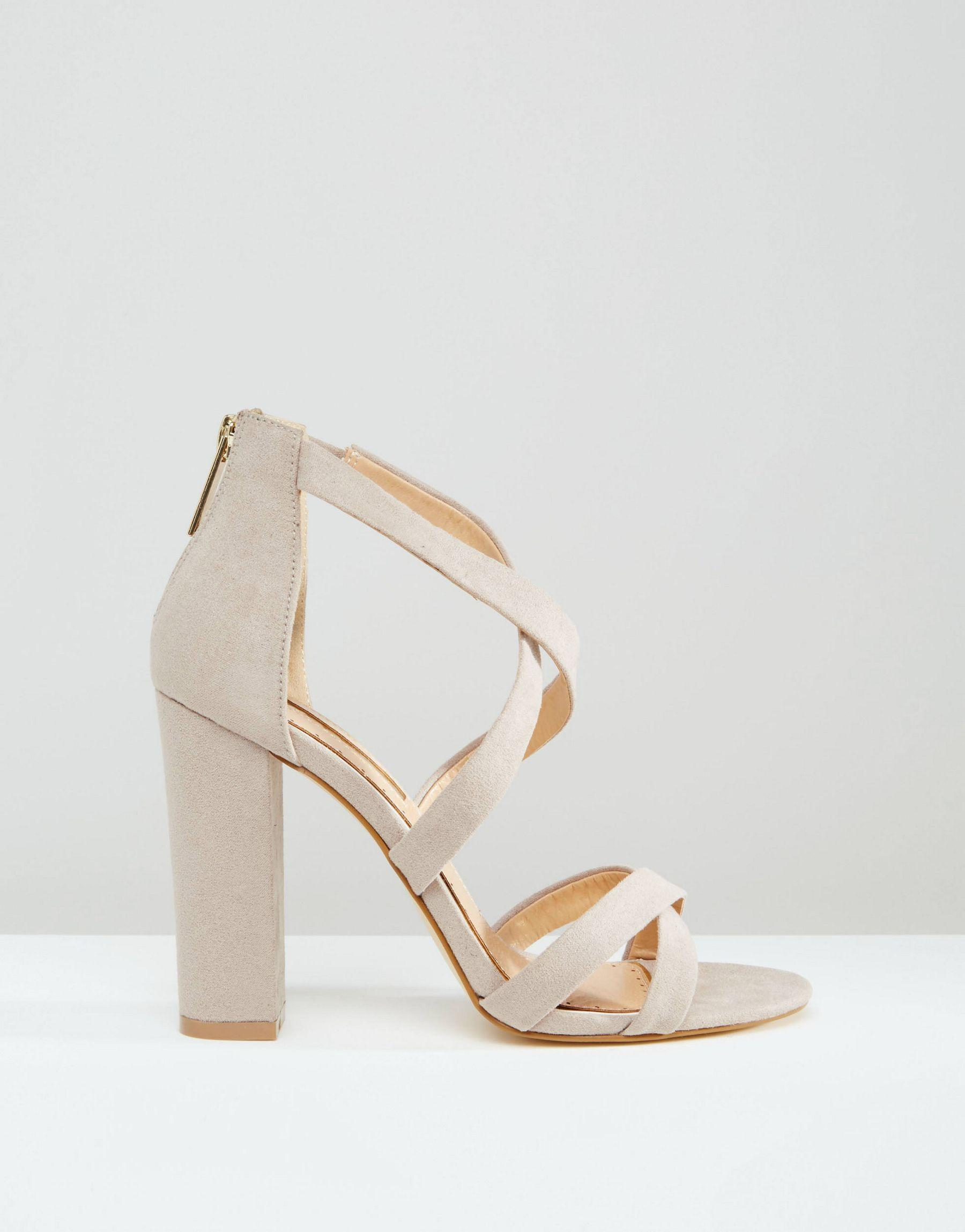 Miss Kg Barely There Heeled Sandal in Orange - Lyst