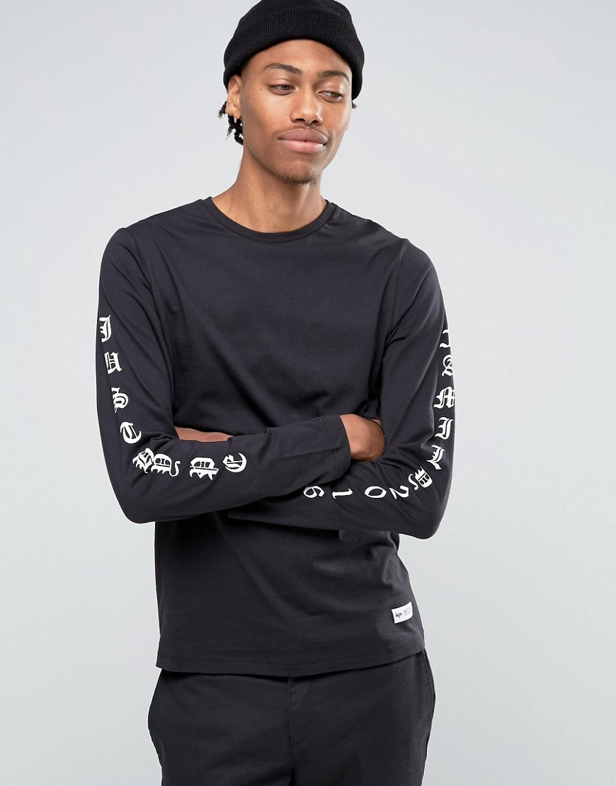 Lyst Hype Long Sleeve T Shirt With Arm Print In Black