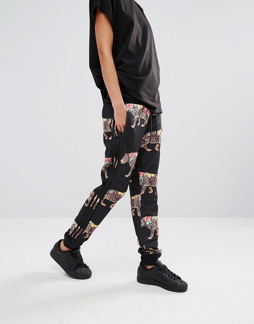 cda1ecbb755d7e adidas Originals Originals X Farm Multi Leopard Print Cuffed Sweat ...