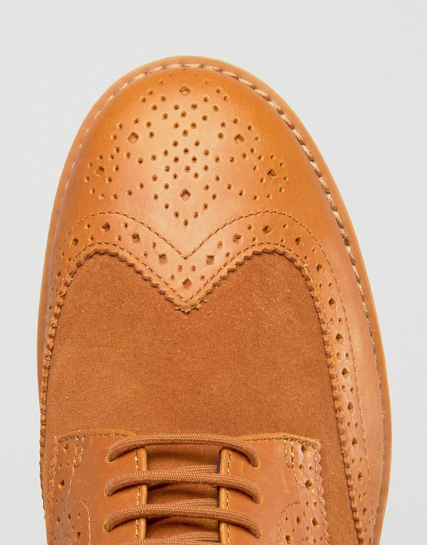 22ce9e1d1b Lyst - Fred Perry Newburgh Brogue Leather Shoes in Brown for Men
