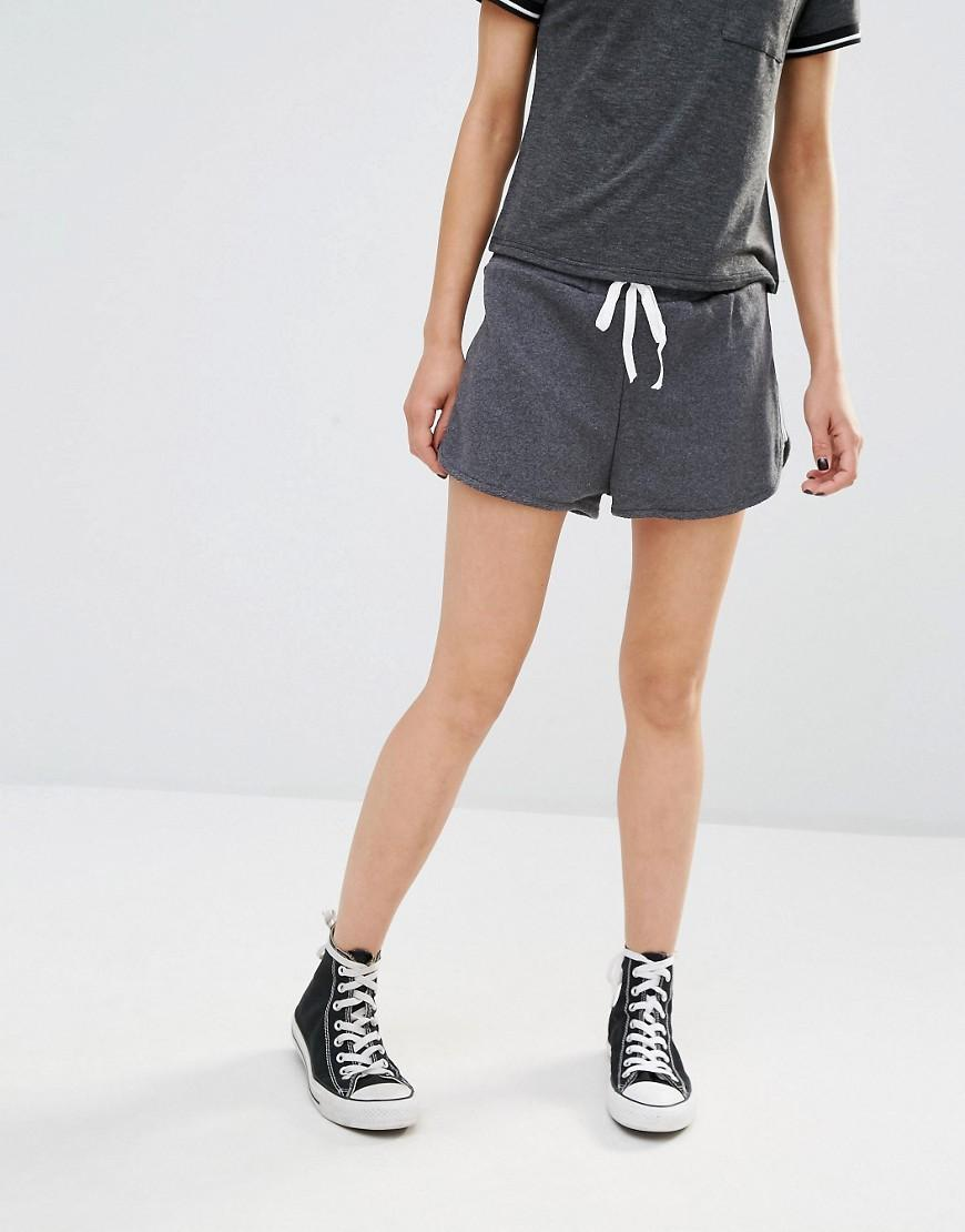 Lyst Boohoo Side Stripe Runner Shorts In Gray