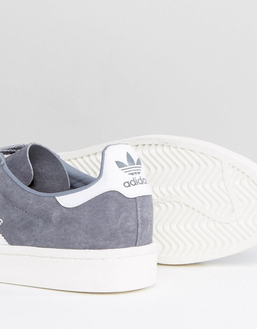lyst adidas originali campus scarpe in grigio ba7535 in grigio per gli uomini.