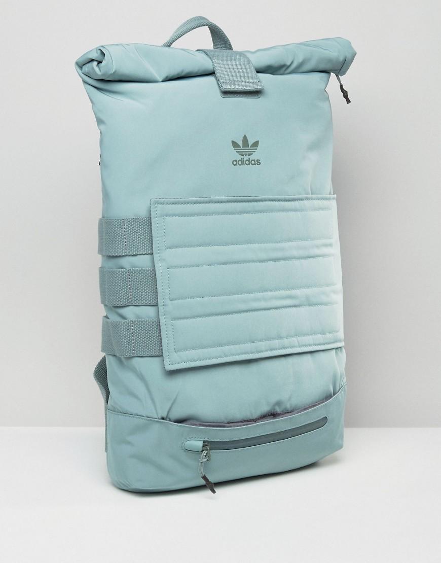 adidas Originals Originals Roll Top Backpack In Bluegrass in Blue - Lyst 41d9934284