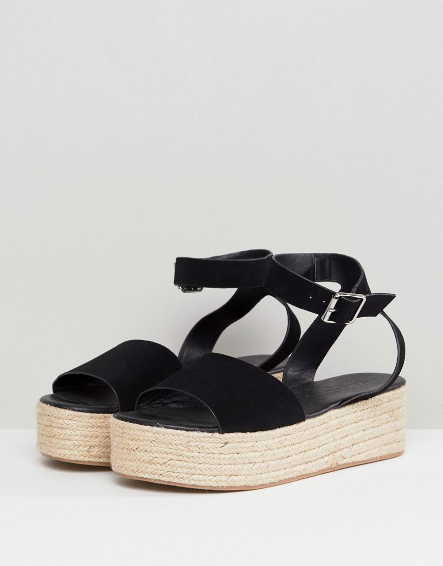 Lyst Black Thear Sandals Flatform in Asos Espadrille PPnwHx