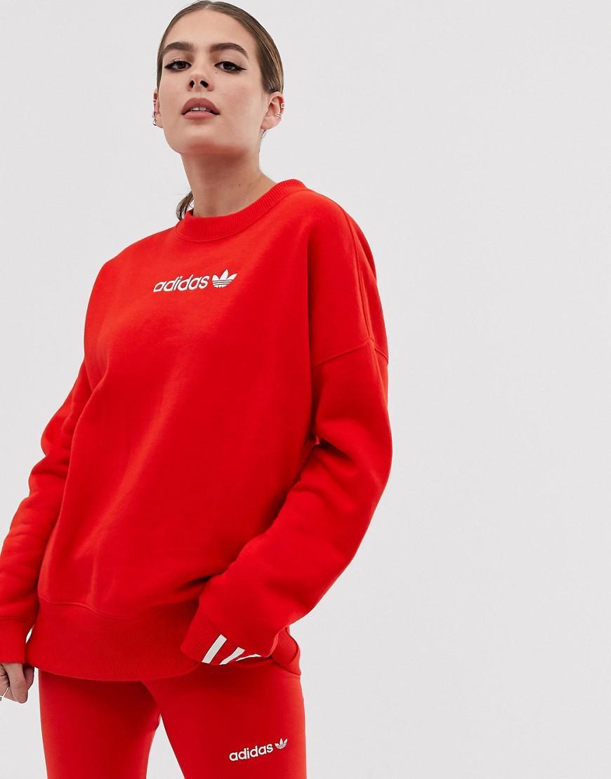 In Adidas Sweatshirt Originals Fleece Red Coeeze Lyst I7vXdqX 64902c36def