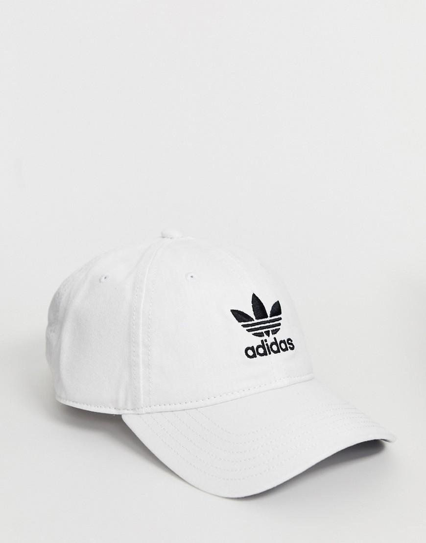961e18a7 Lyst - adidas Originals Logo Cap In White in White for Men