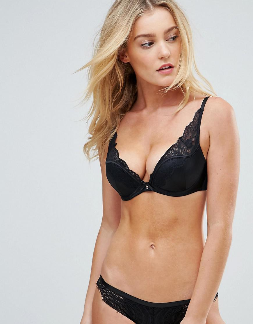 29bec15414baa Gossard Vip Black Push Up Bra A-g Cup in Black - Lyst