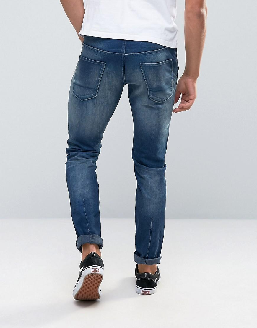 scotch soda scotch and soda overdye slim fit jeans in blue for men lyst. Black Bedroom Furniture Sets. Home Design Ideas