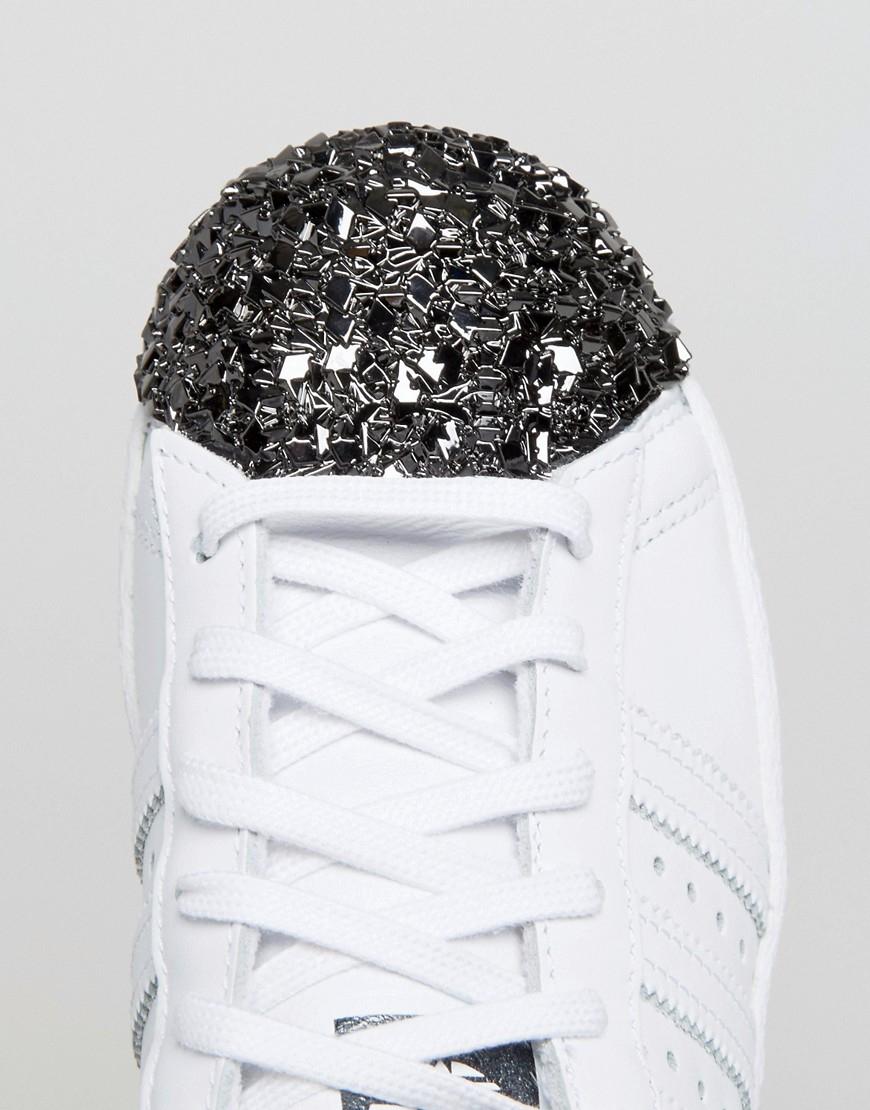 lyst adidas originali originali white superstar di formatori