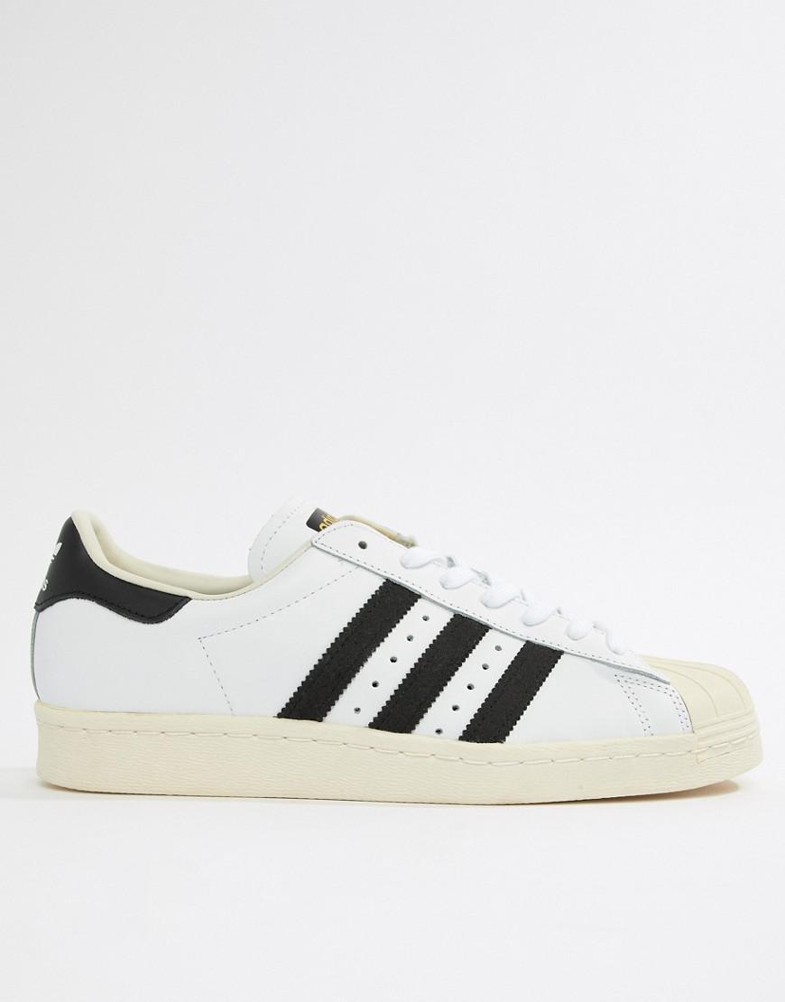 size 40 e37ad 80b21 adidas Originals Superstar 80 s Trainers In White G61070 in White for Men -  Lyst