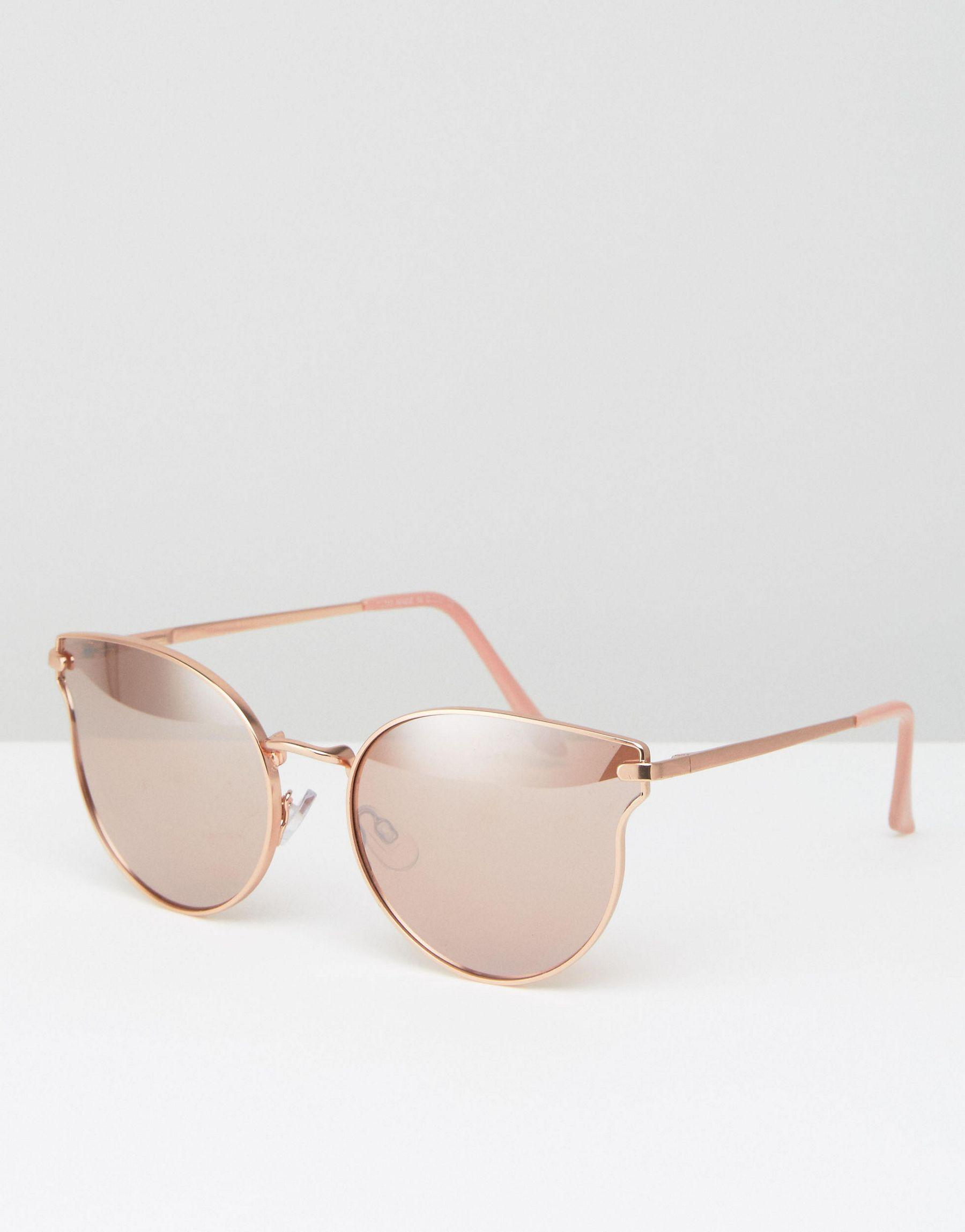 Aldo ldo cat eye sunglasses in rose gold in pink lyst for Miroir rose gold