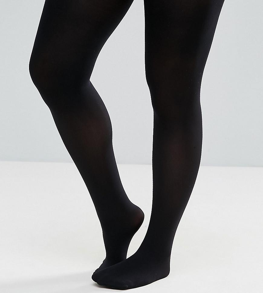 869a09398b5 Pretty Polly Plus 60 Denier Plush Opaque Tights in Black - Lyst