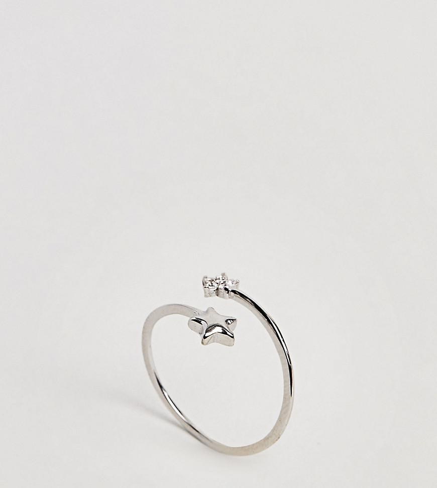 Sterling Silver Skull Ring - Silver Kingsley Ryan zsR14I