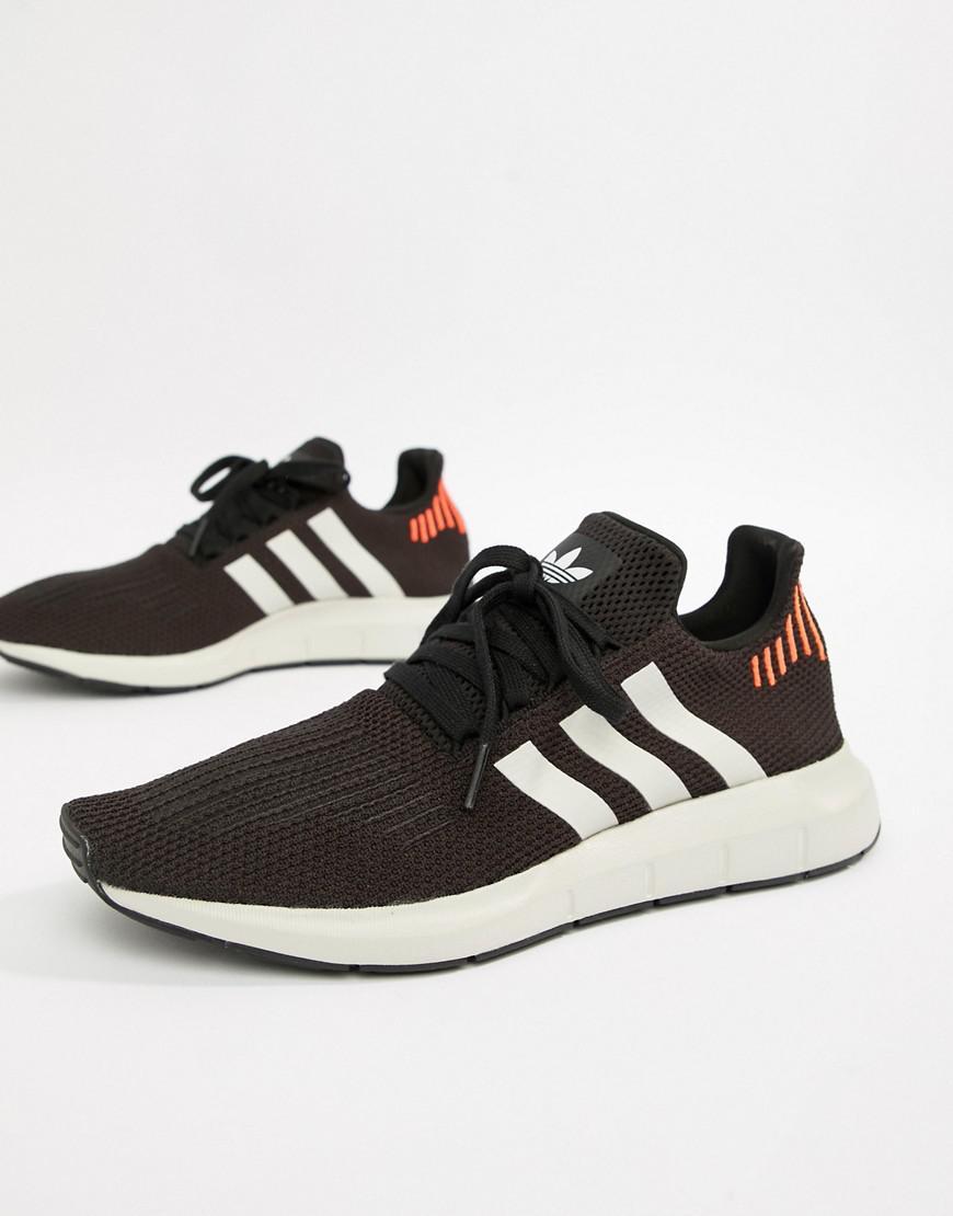 d6f113d581274c Lyst - adidas Originals Swift Run Sneakers In Black B37730 in Black ...