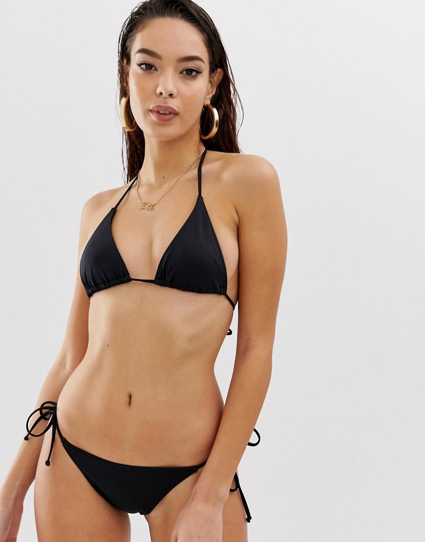 6708e8e3054 Lyst - ASOS Recycled Mix And Match Sleek Triangle Bikini Top in Black