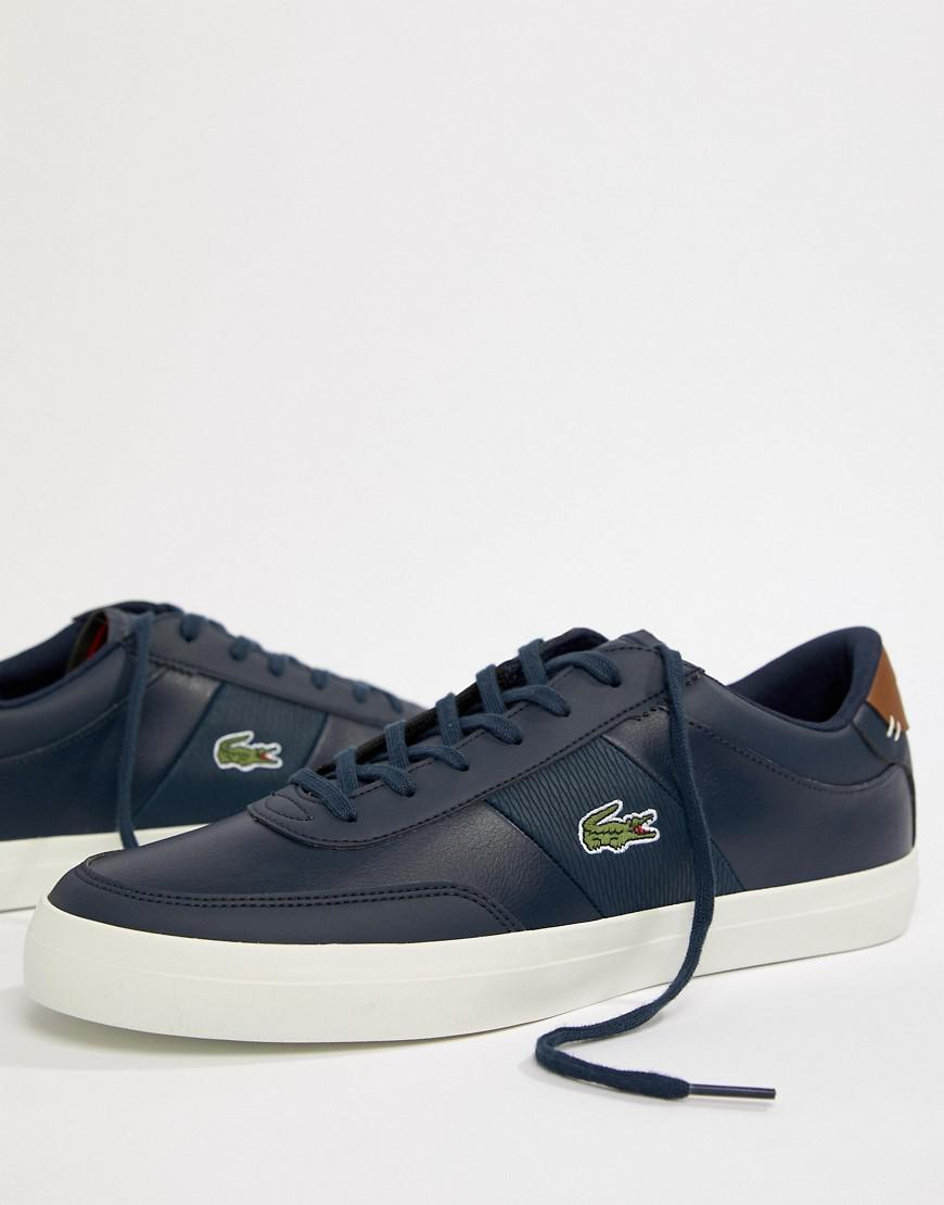 22343edda Lacoste Court Master 318 2 Trainers In Navy in Blue for Men - Lyst