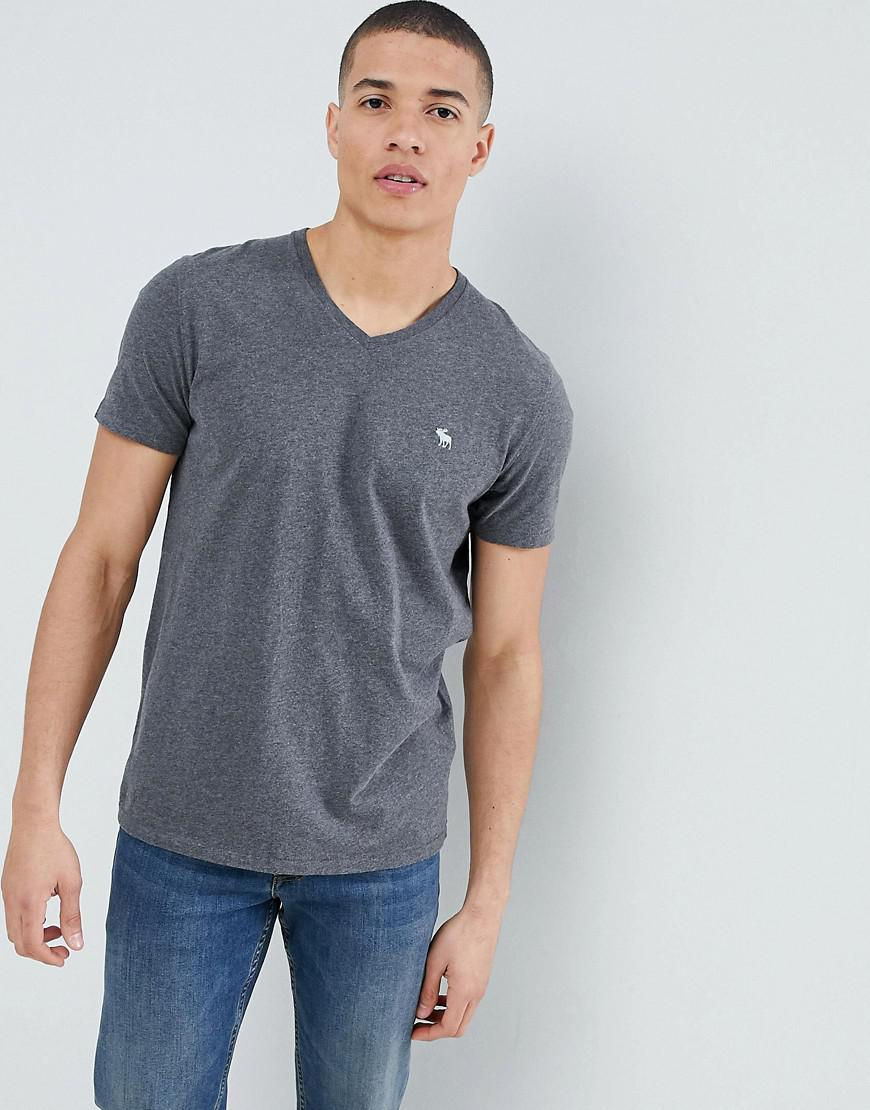 a22484d30 Abercrombie & Fitch Pop Icon V-neck T-shirt In Dark Grey in Gray for ...
