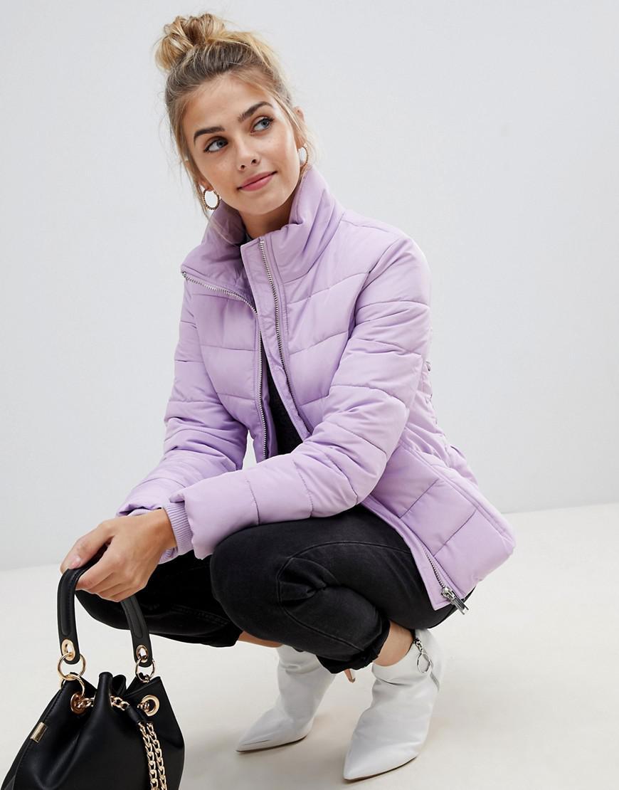 d407f0a165f20 Miss Selfridge Padded Jacket in Purple - Lyst