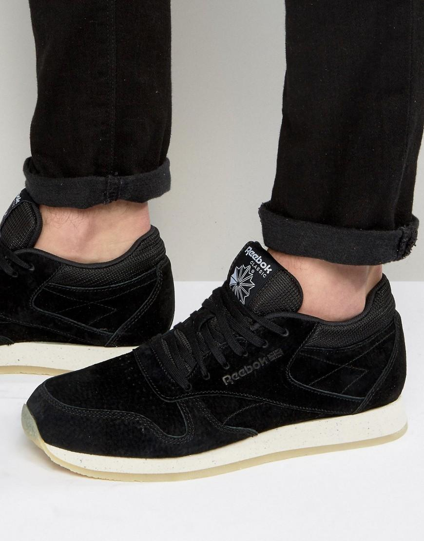 ddeb84e15bed Reebok Classic Leather Crepe Sneakers in Black for Men - Lyst