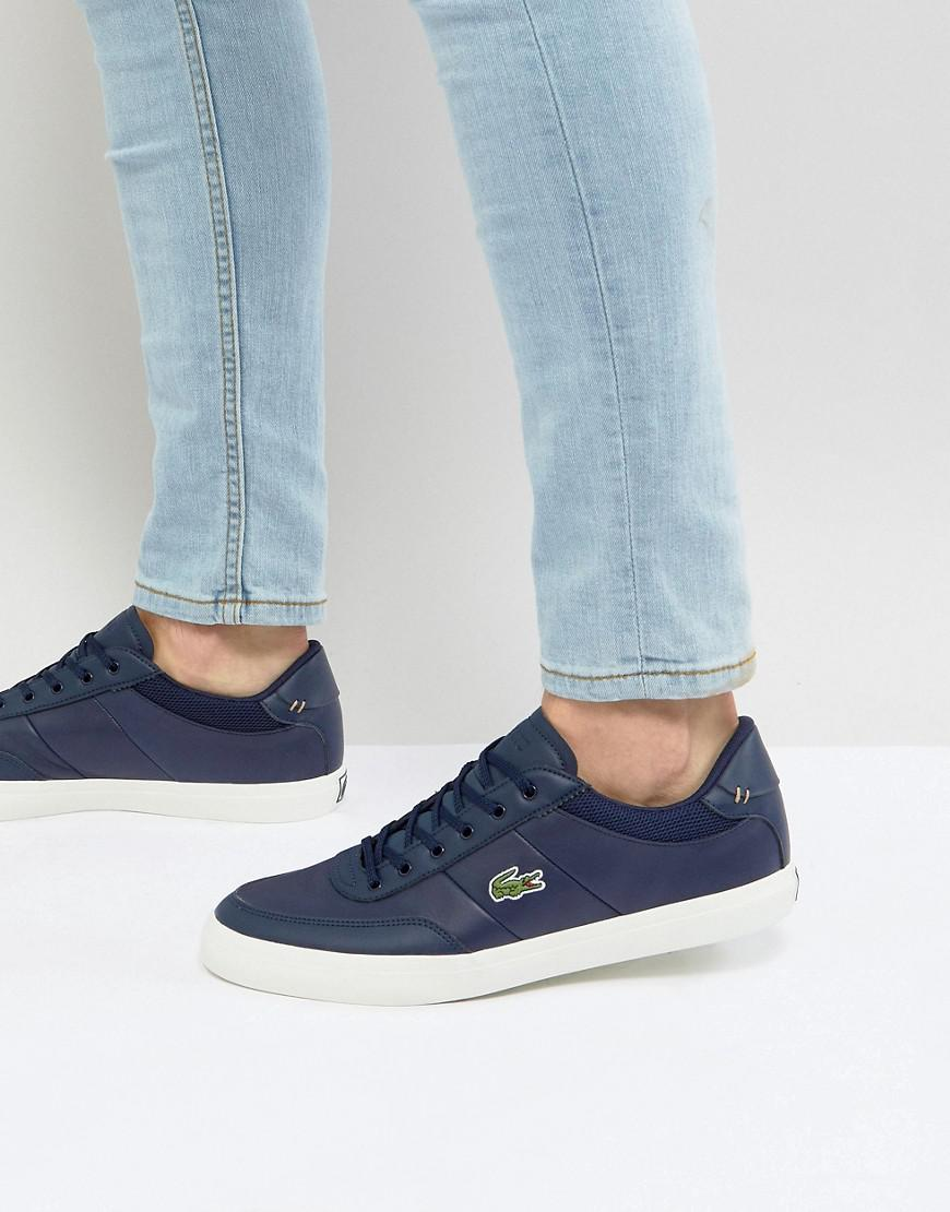 1bf3dd885 Lacoste Court Master Leather Trainers In Navy in Black for Men - Lyst