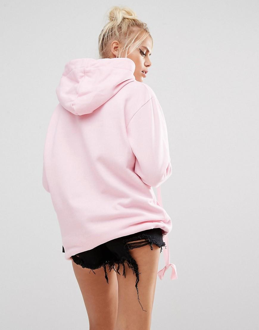 Adolescent clothing Halloween Whatu0026#39;s Up Witches Oversized Hoodie in Pink | Lyst