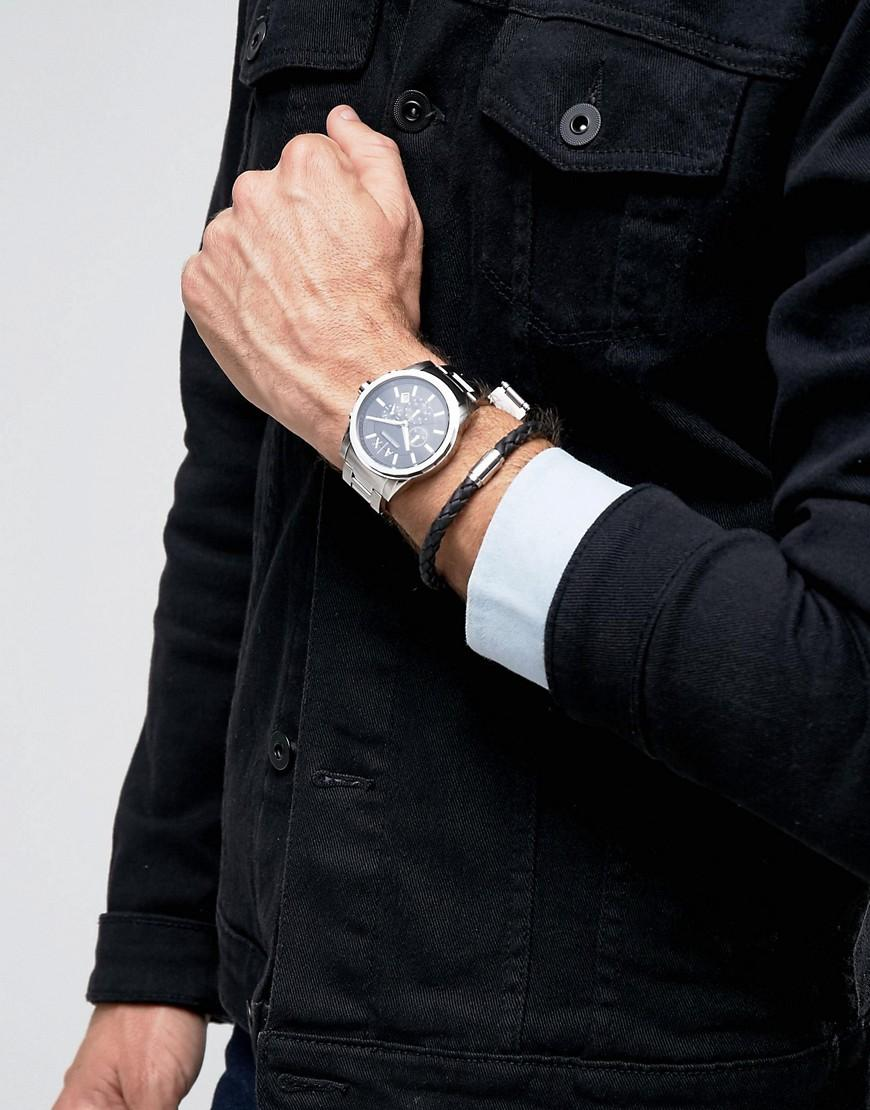 Lyst - Armani Exchange Outerbanks Chronograph Watch   Bracelet Gift Set in  Metallic for Men 5babd9d14a