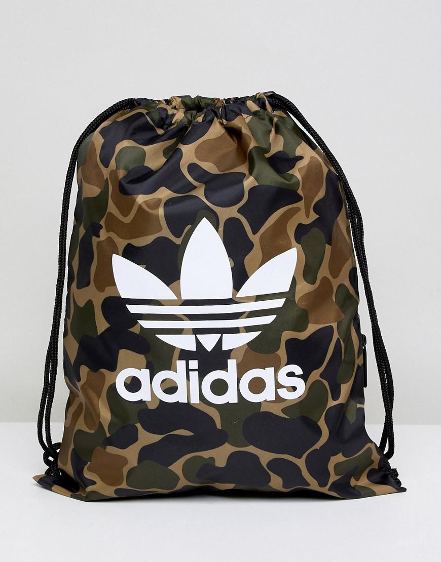 06e0447758 Lyst - adidas Originals Drawstring Bag In Camo Cd6099 in Green for Men