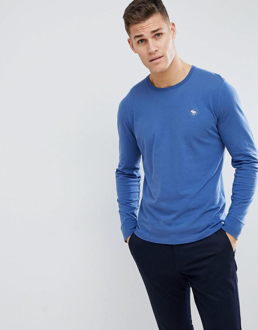 8978eb5f Abercrombie & Fitch Long Sleeve T-shirt With Moose Logo In Blue in ...
