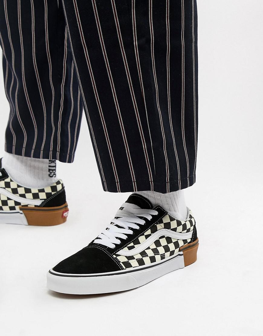 Vans Old Skool Checkerboard Trainers In Black Vn0a38g1u581 in Black for Men  - Lyst 7b95b6306