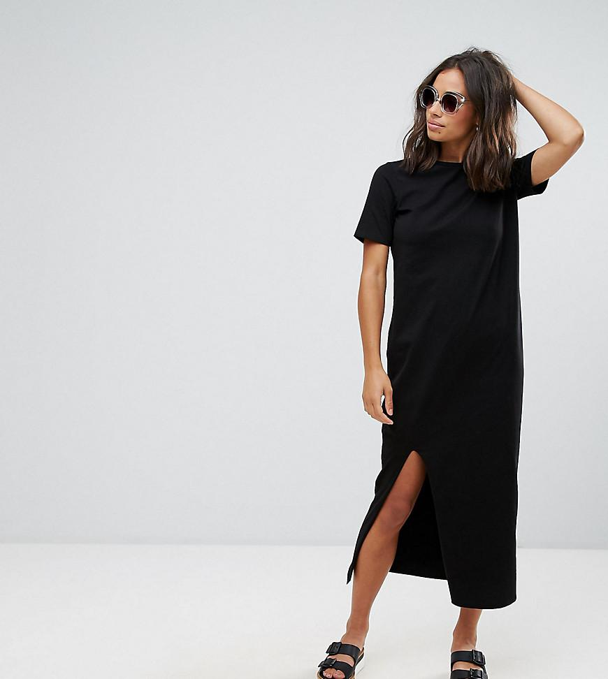 277c2a18b98c Lyst - ASOS Asos Design Petite Ultimate T-shirt Maxi Dress in Black
