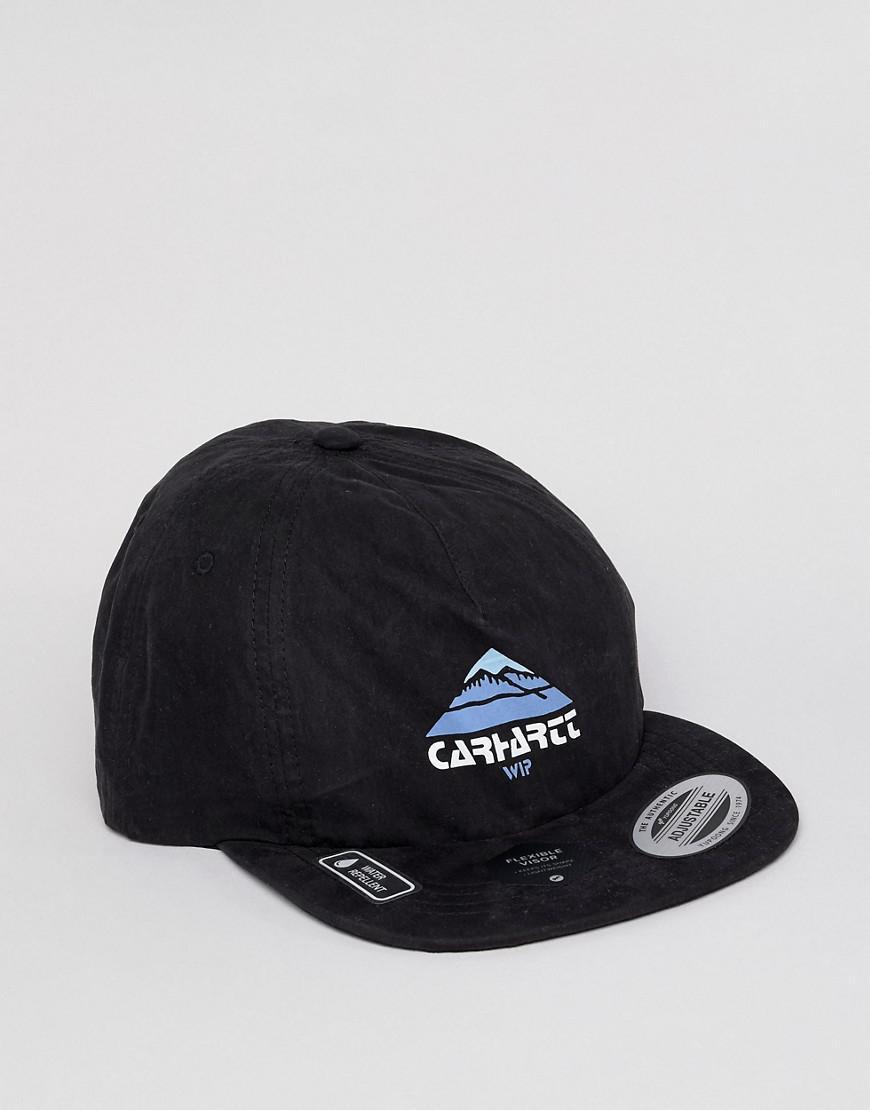 2c04599cf97 Carhartt WIP Mountain Logo Cap In Black in Black for Men - Lyst