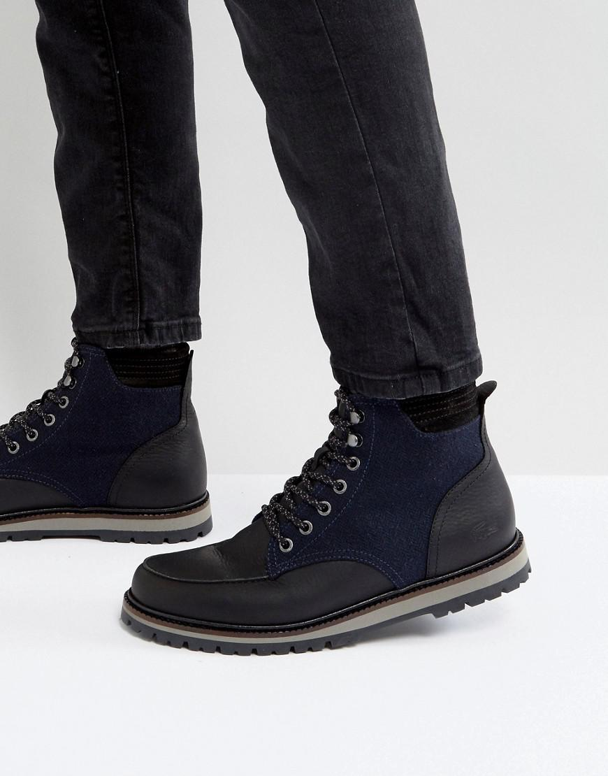 d456b1a437e67f Lacoste Montbard Pique Boots in Black for Men - Lyst