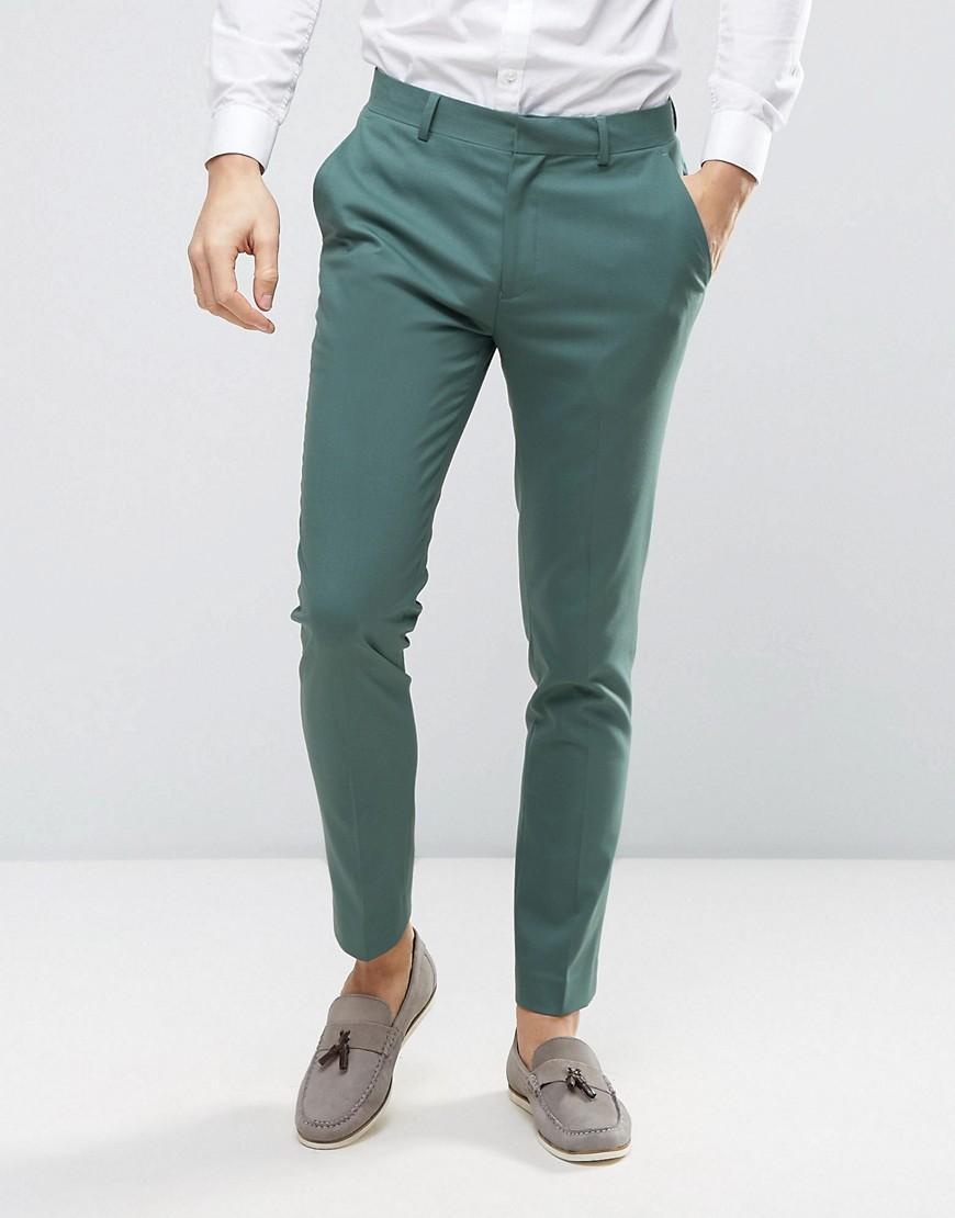 Asos Wedding Skinny Suit Pants In Pine Green In Green For Men | Lyst