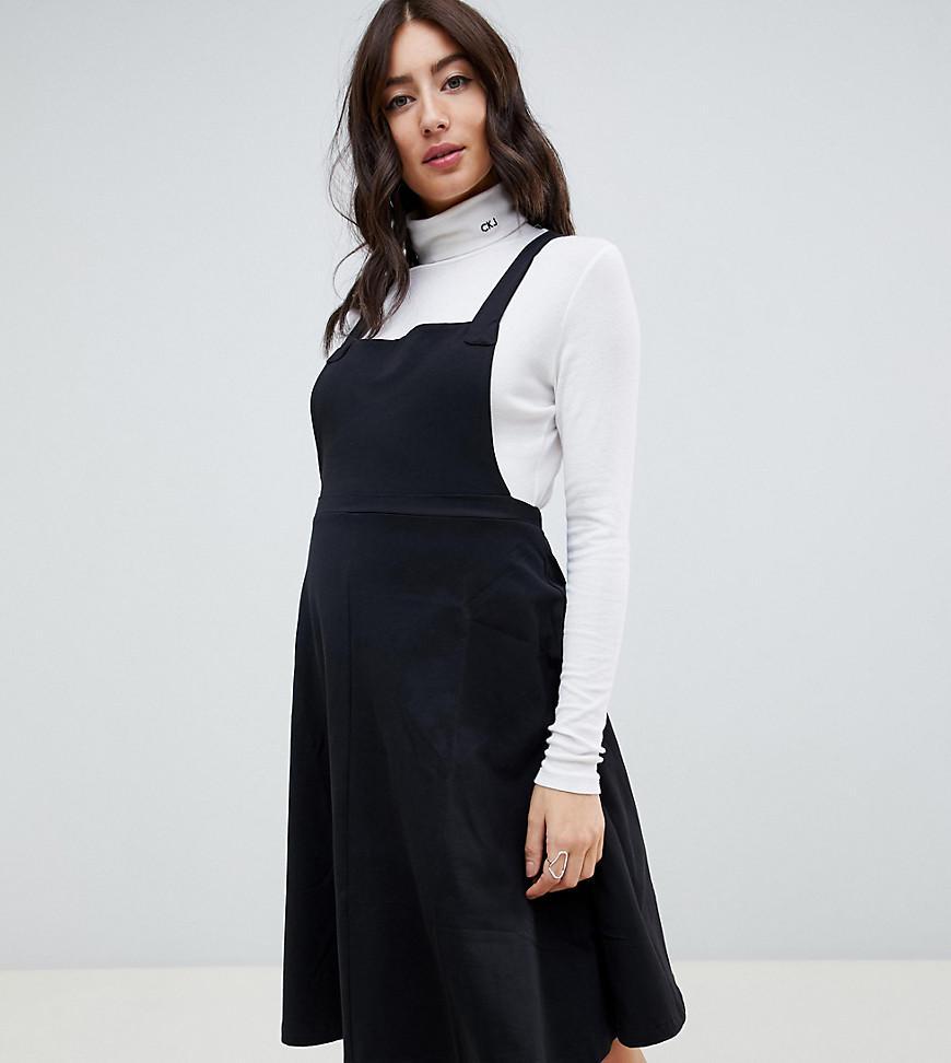 b95796d5090 ASOS. Women s Black Asos Design Maternity Square Neck Mini Pinafore Dress