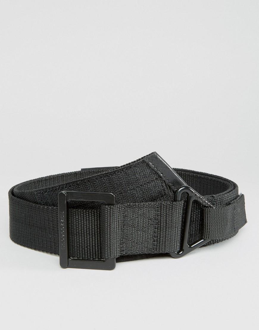 asos wide utility woven belt in black in black for lyst