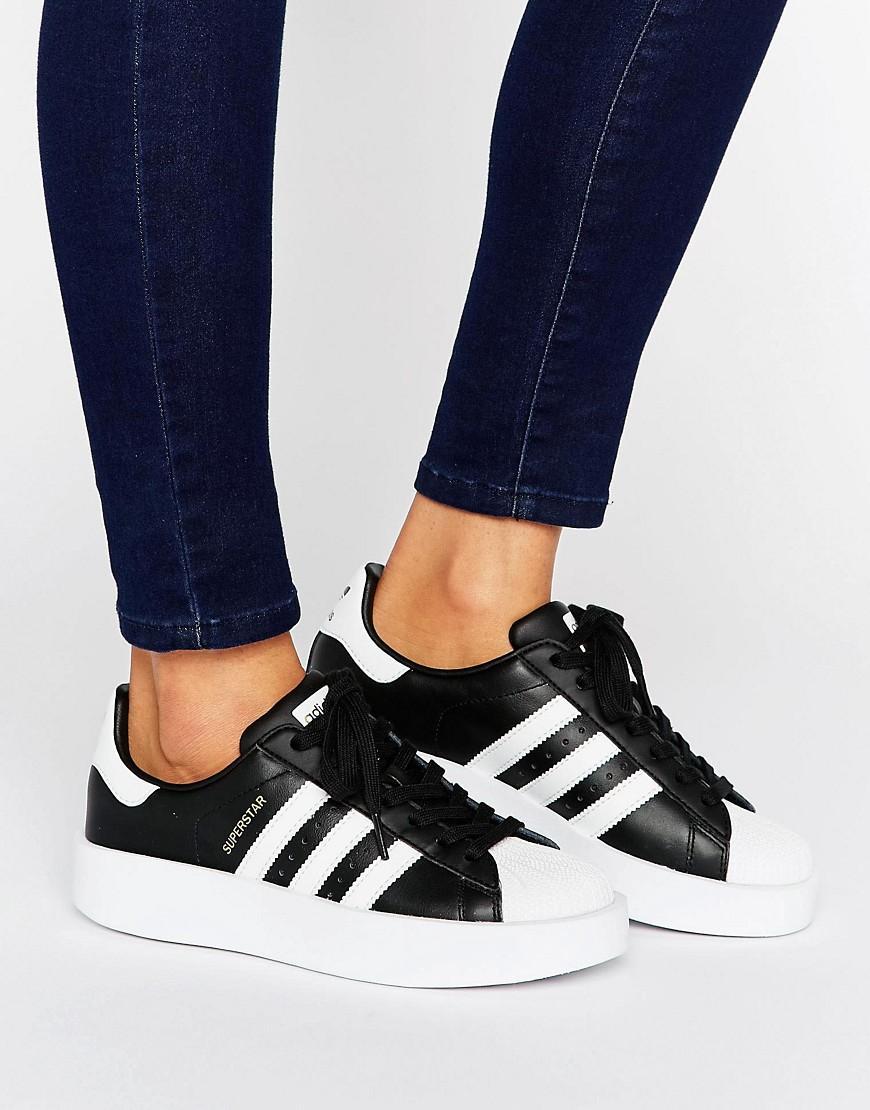 buy online 315da f9650 adidas Originals Originals Bold Double Sole Black And White ...