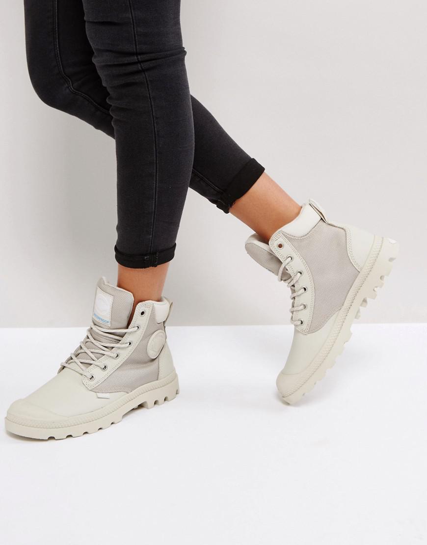Palladium Pampa Silver Birch Sports Cuff Flat Ankle Boots clukR