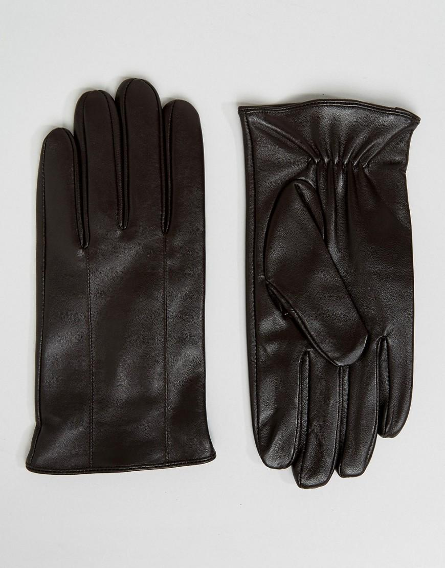 55bc7e774ca25a Lyst - Barneys Originals Braune Lederhandschuhe in Braun für Herren