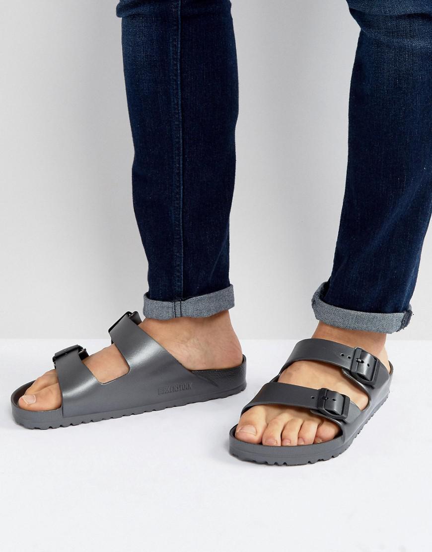 c254f32332dc Birkenstock Arizona Eva Metallic Sandals In Anthracite in Gray for ...