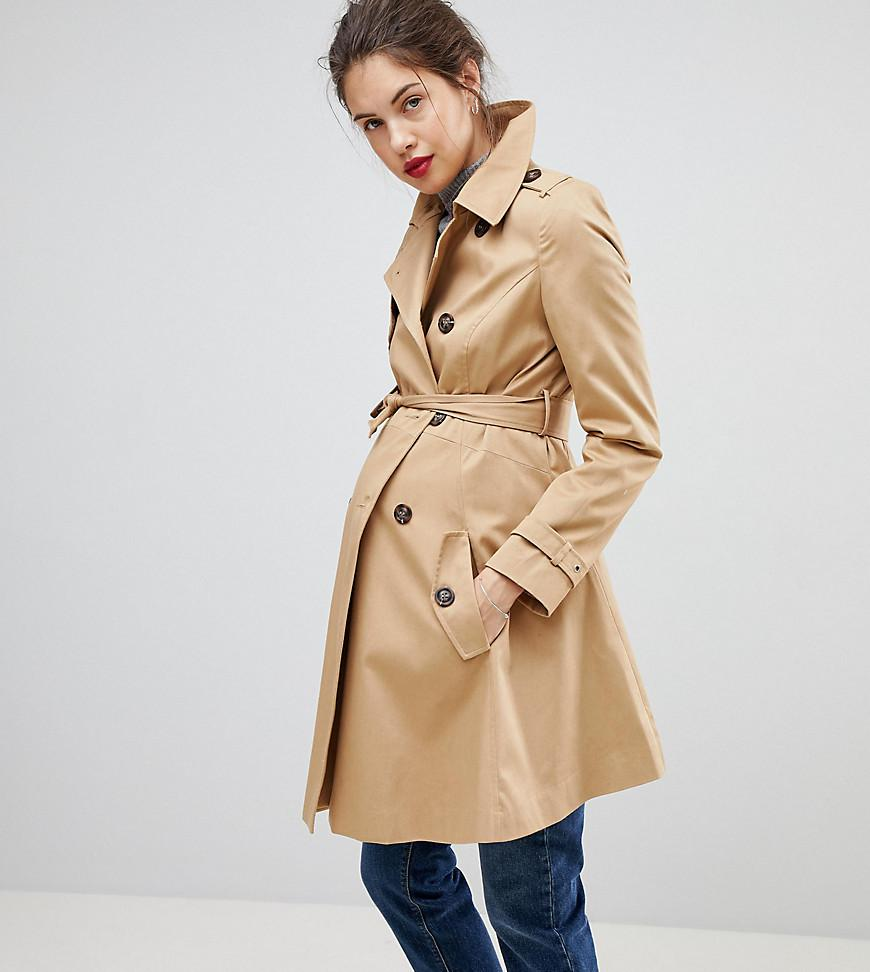 337cb9bc1a9c2 Lyst - ASOS Asos Design Maternity Classic Trench Coat in Natural