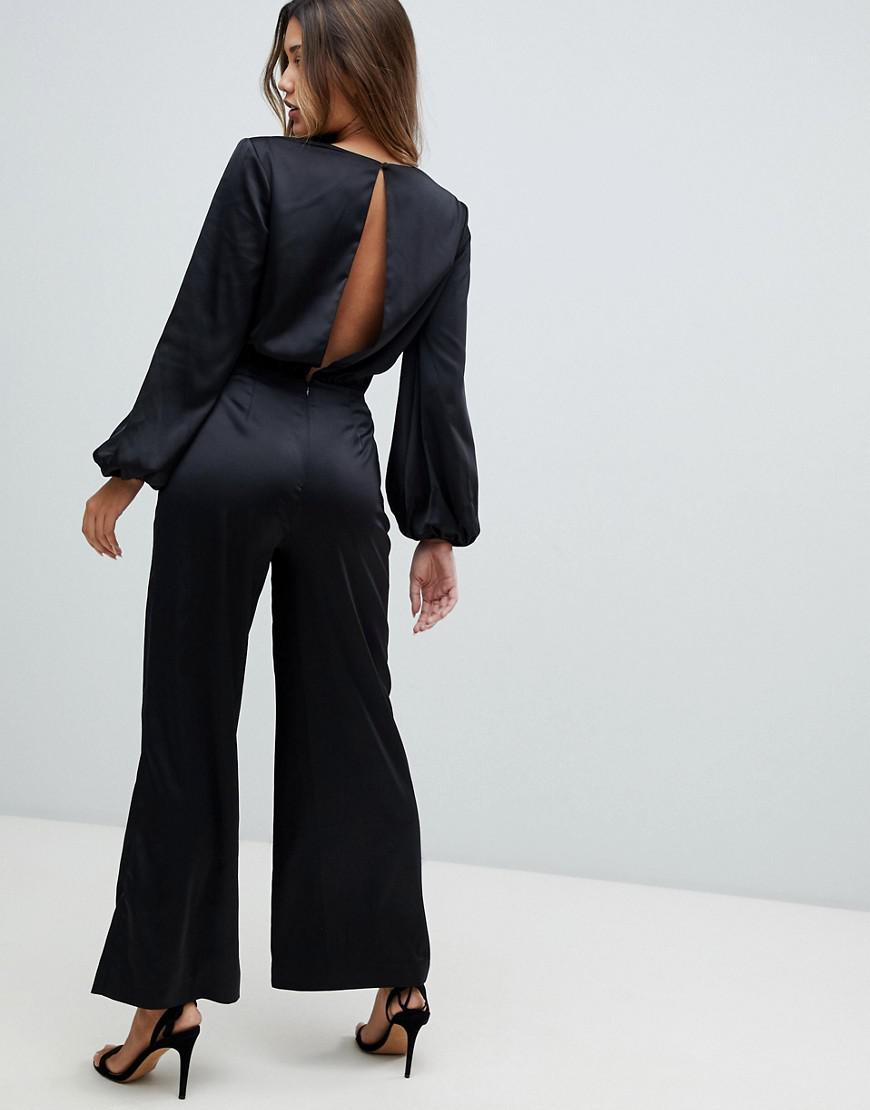 c3a7c6e7549e Lyst - Finders Keepers Pompeii Wrap Jumpsuit in Black